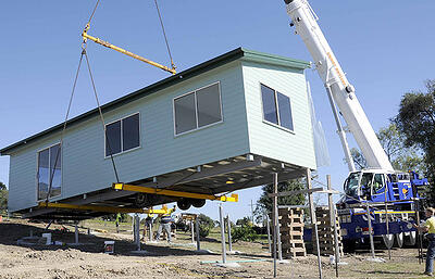 21.-Installation-of-Home-on-Piers